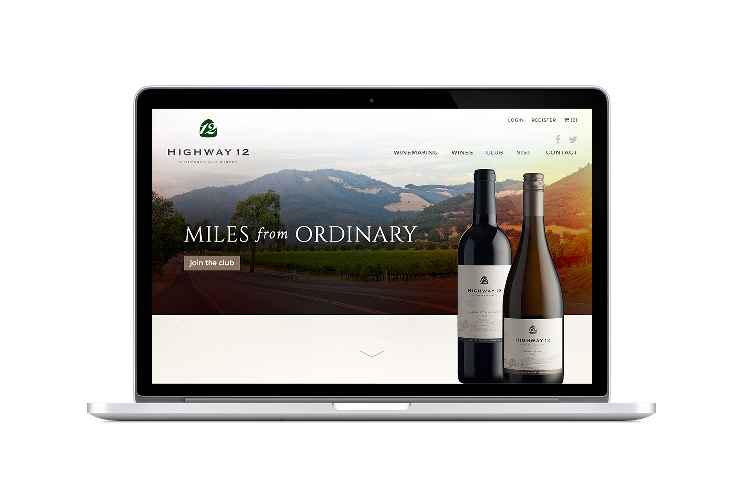 Highway 12 Winery Responsive Website Design
