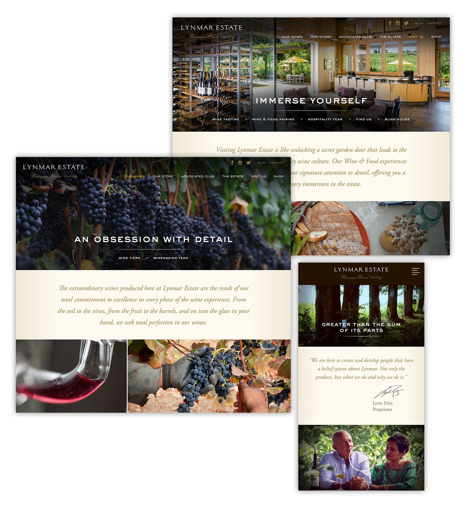 Lynmar Estate Winery Website Design