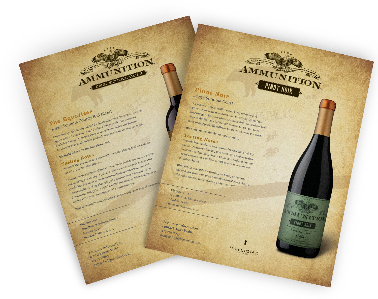 Ammunition WInes Sell Sheets