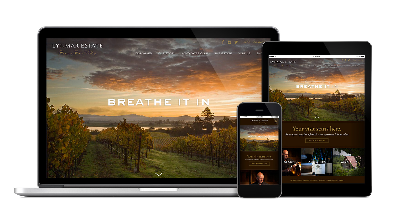 Lynmar Estate Responsive Website Design
