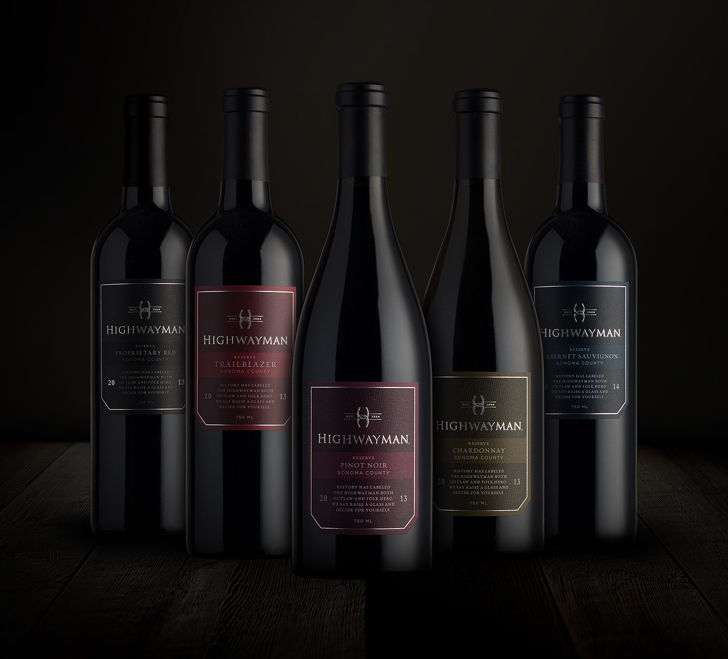 Highwayman Wine Label Design System
