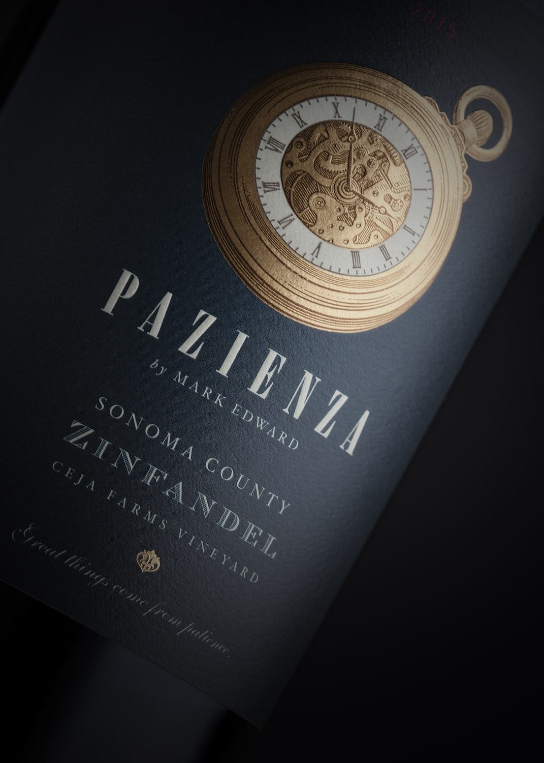 Pazienza Zinfandel Wine Label