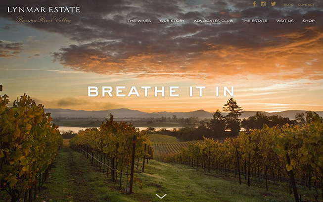 Lynmar Estate Homepage