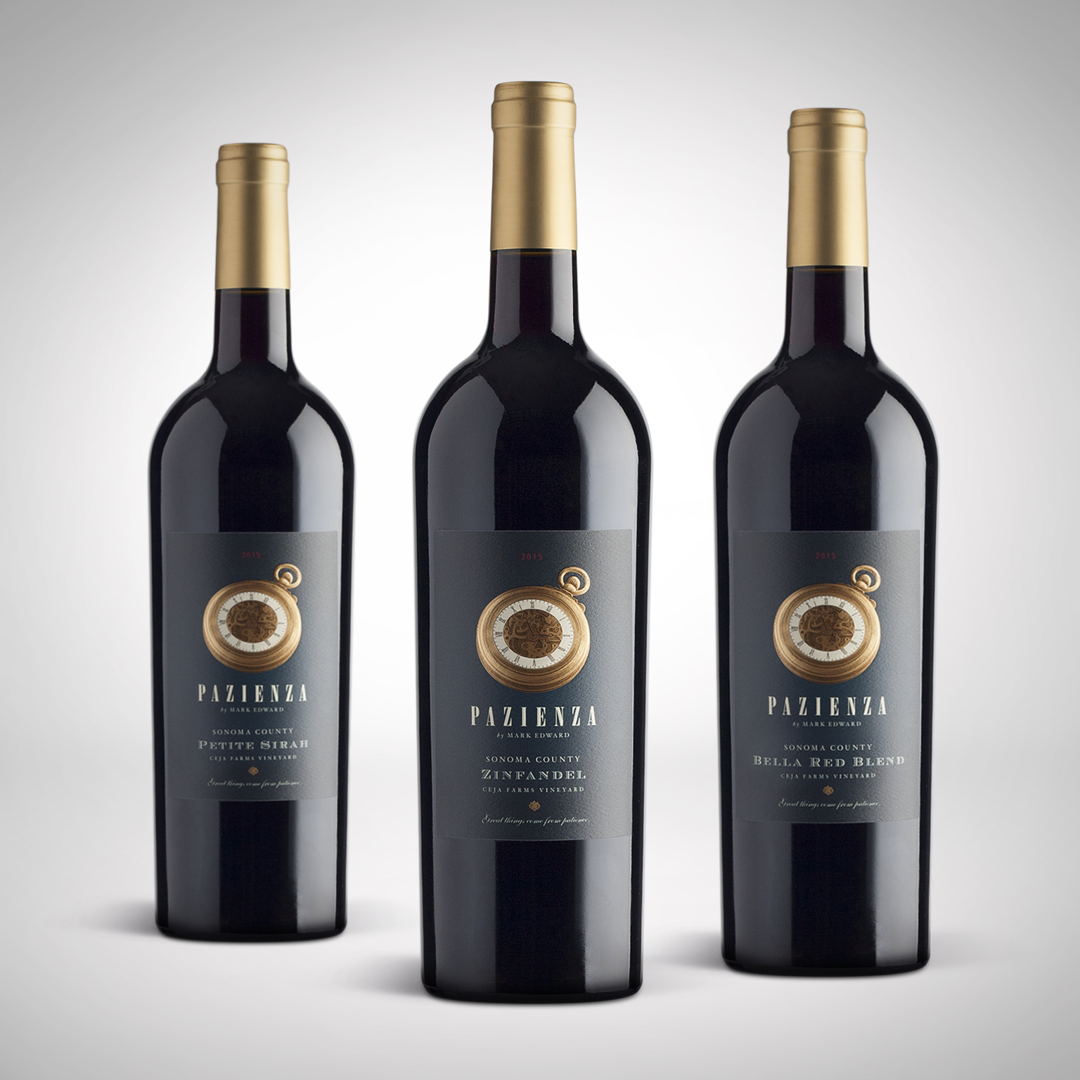 Pazienza Wines Label Design