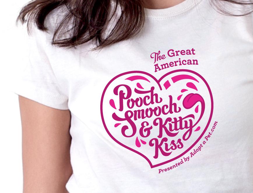 Adopt-A-Pet.com Pooch Smooch Logo Design