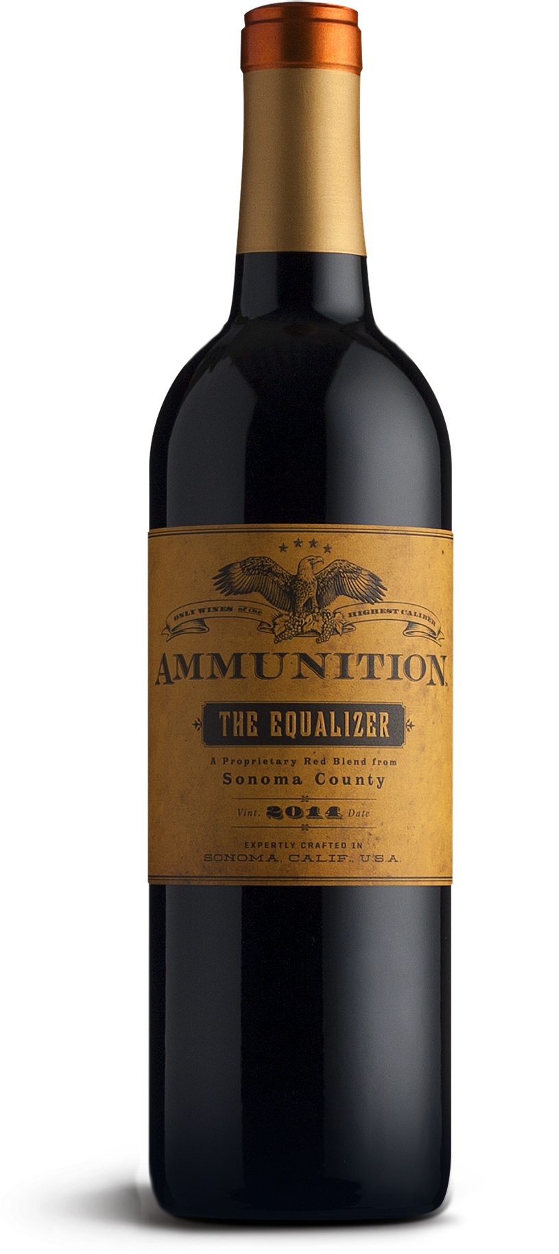 Ammunition Equalizer Red Blend Label Desgin