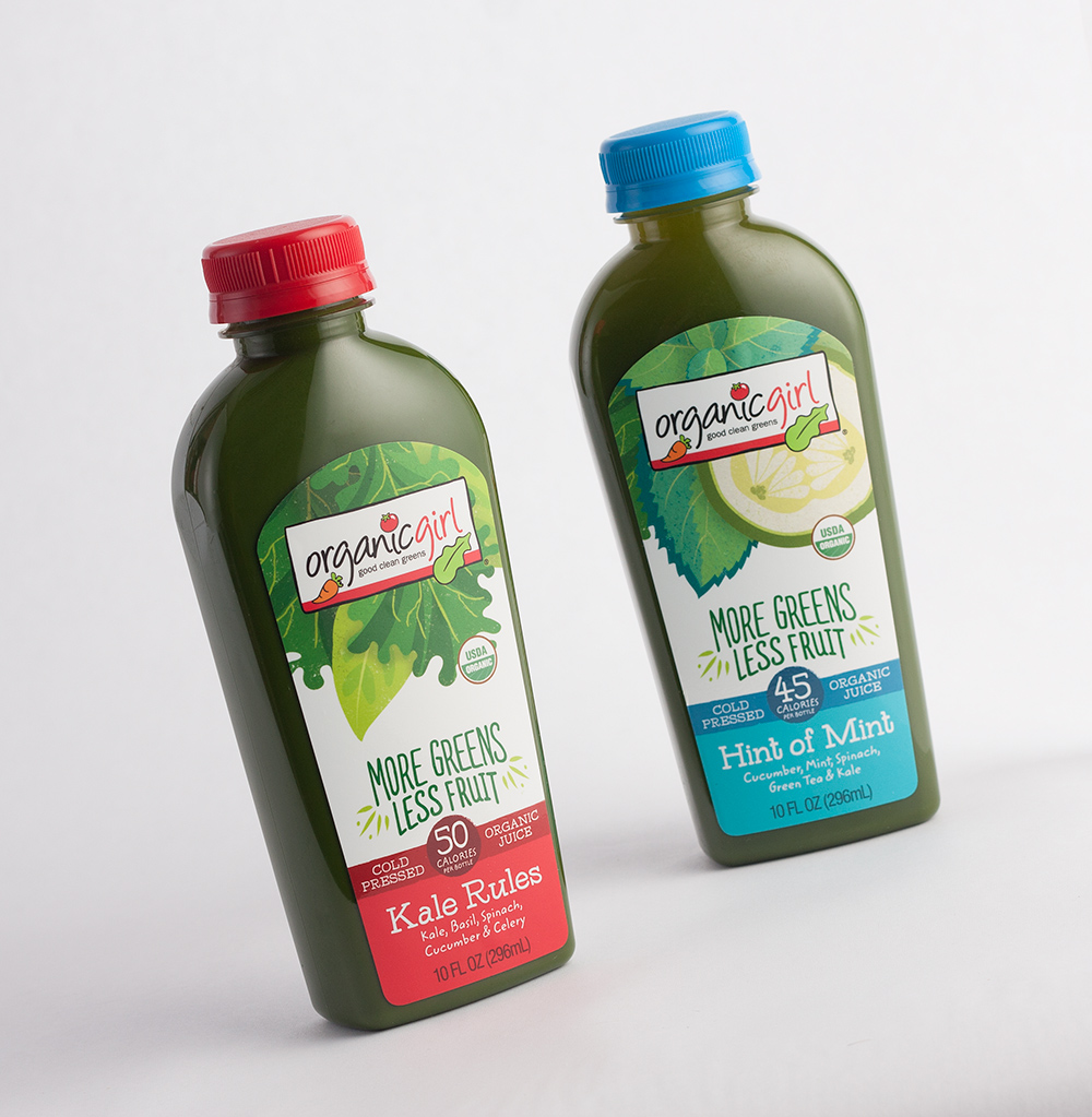 Organic Girl Kale Rules Juice Packaging Design