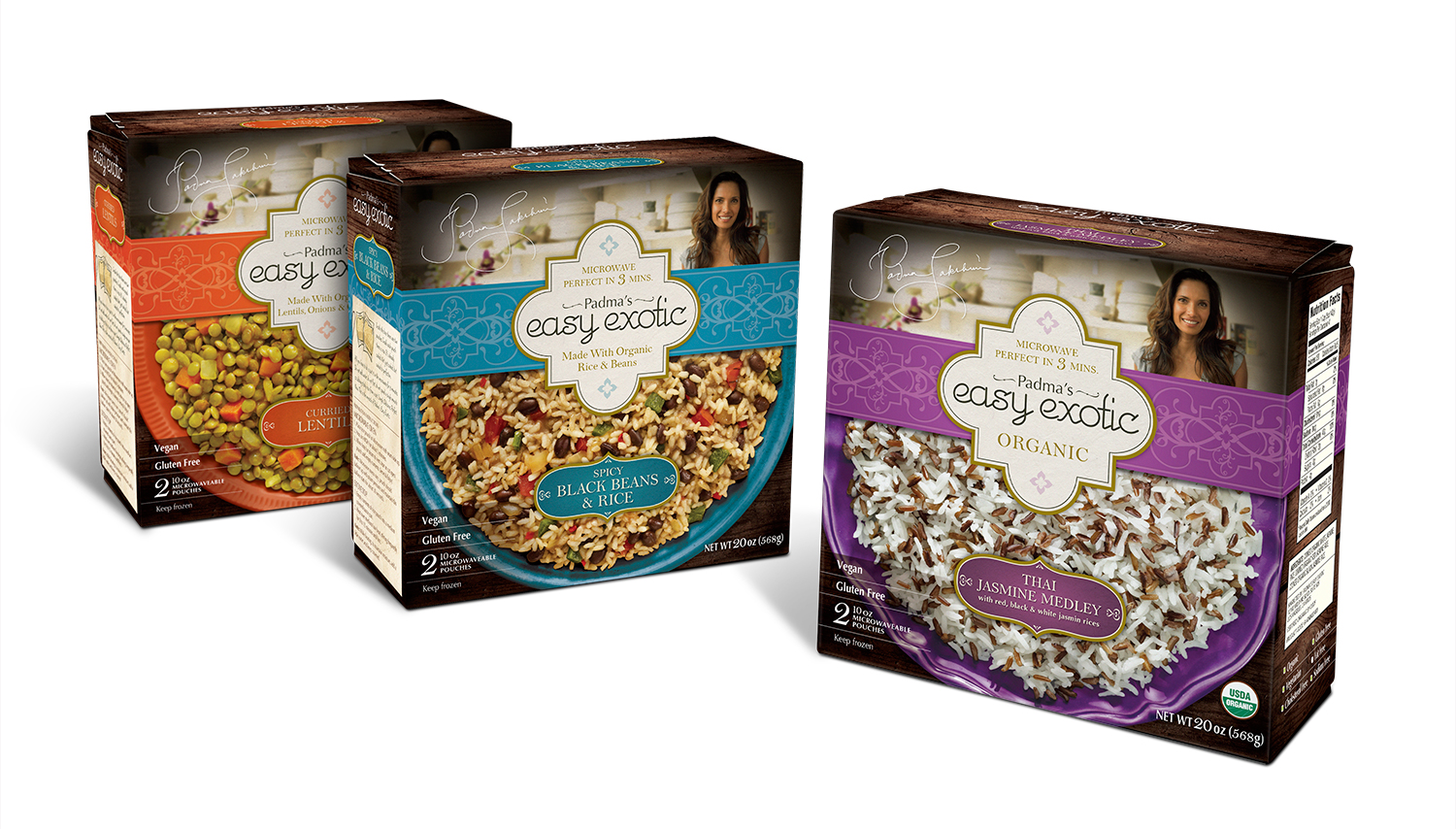 Padma's Easy Exotic Rice Packaging Design