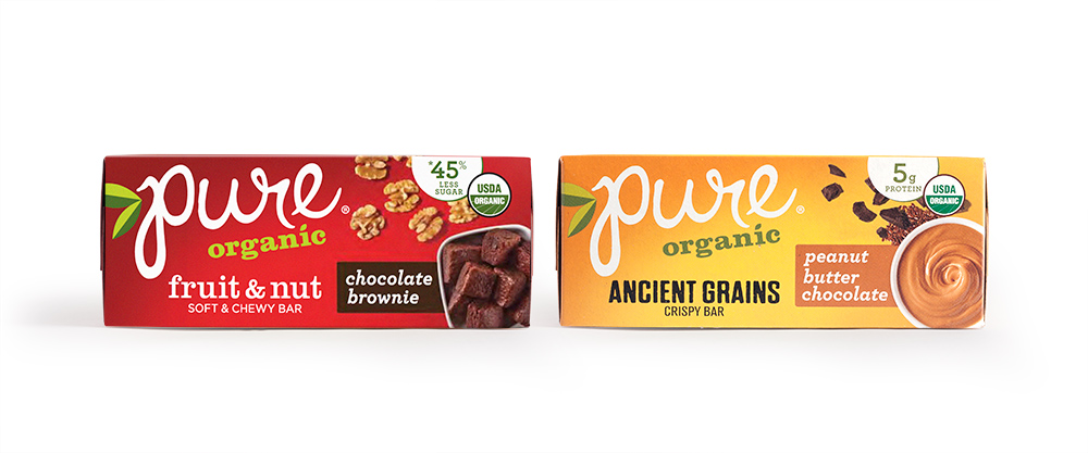 Pure Organic Bars Carton Design