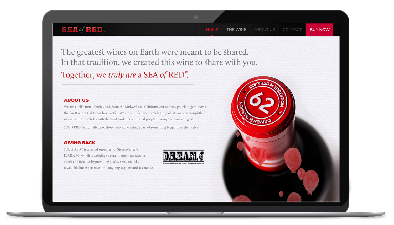 SEA of RED website design