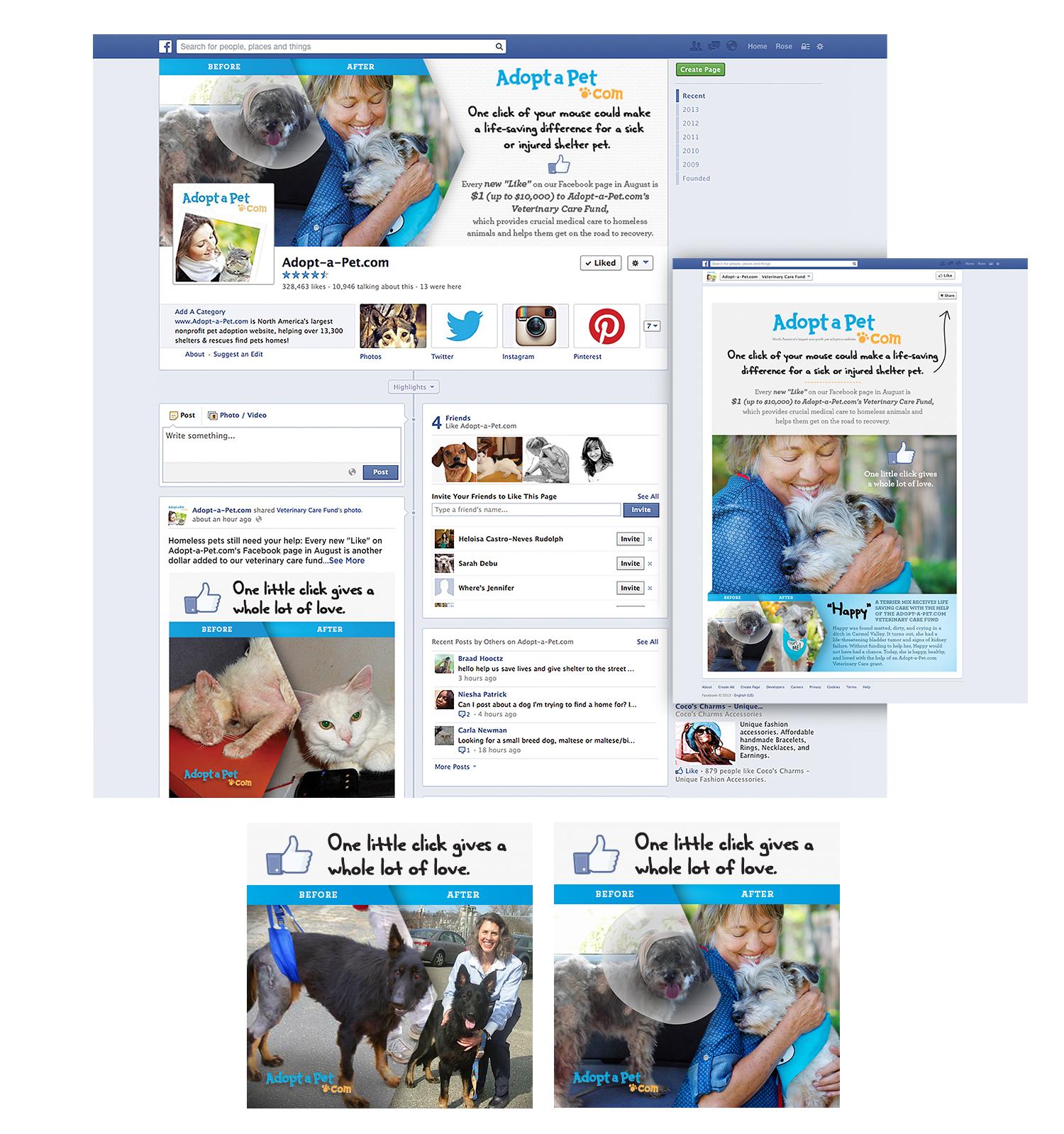 Adopt-A-Pet.com Social Media Design