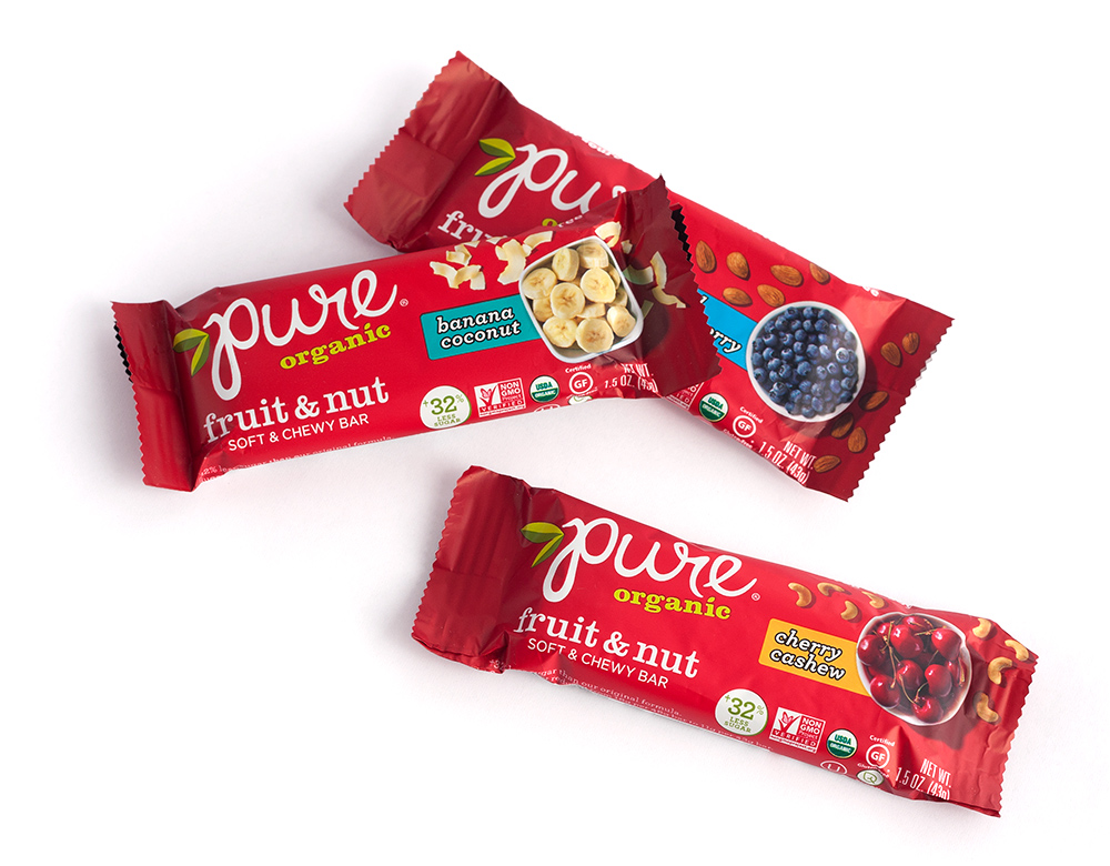 Pure Organic Fruit and Nut Bars Packaging Design