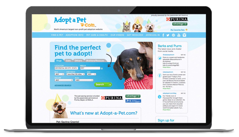 Adopt-A-Pet.com Website Design