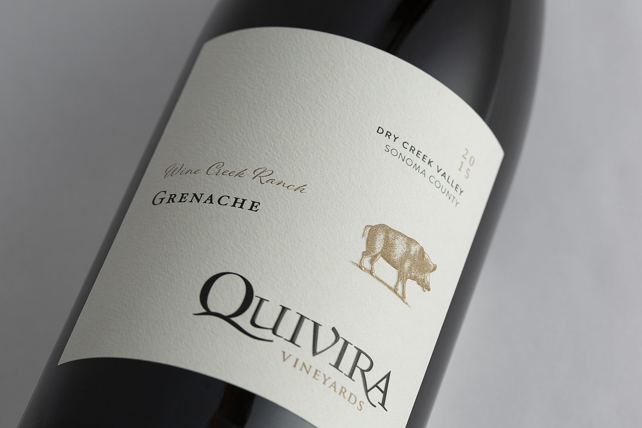 Quivira Single-Vineyard Wine Label Design