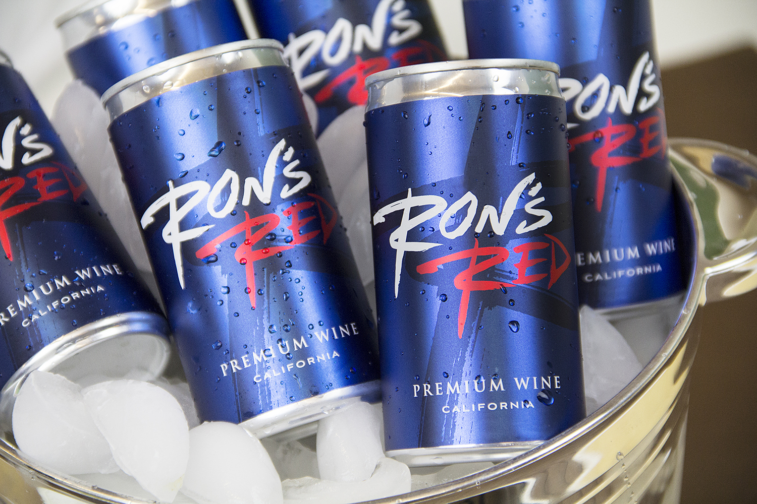 Ron's Red wine cans