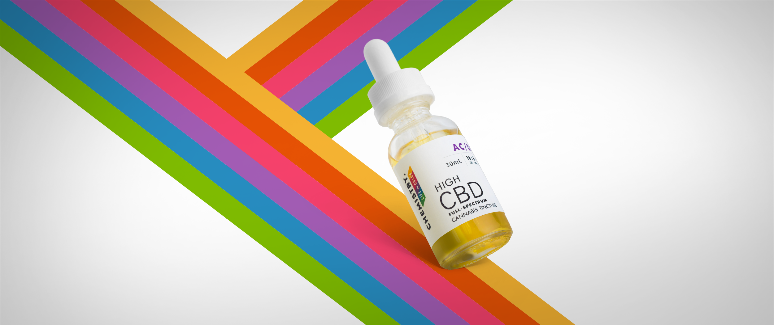 Chemistry High CBD Cannabis Tincture Packaging Design