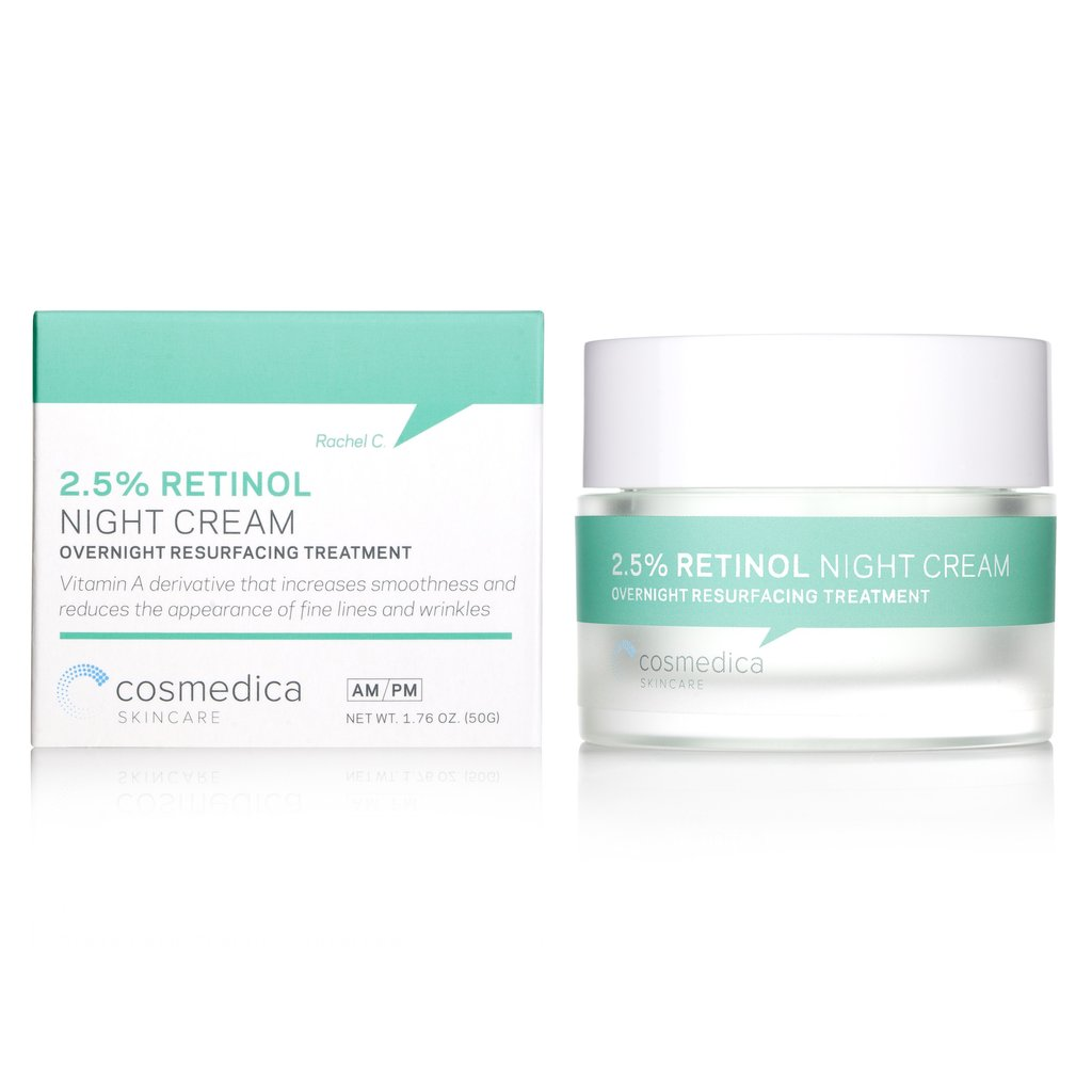 Cosmedica Skincare Retinol Night Cream Packaging