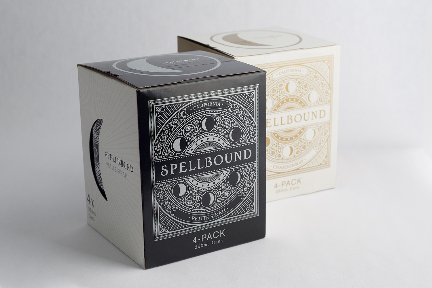 Spellbound Merlot and Chardonnay Wine in Cans Folded Carton Box