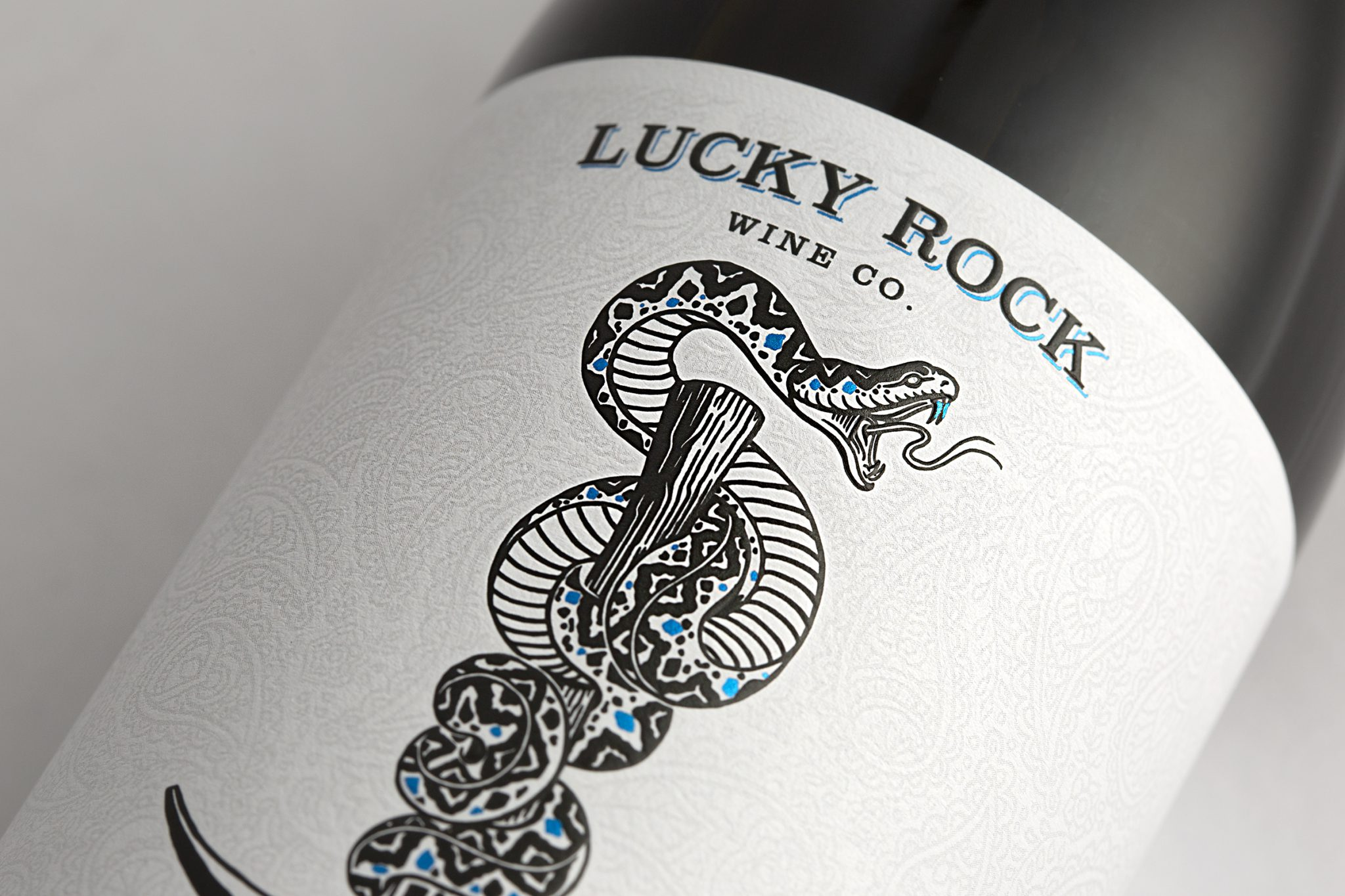 Lucky Rock Wine Co. wine label design by Vertical in Sonoma County