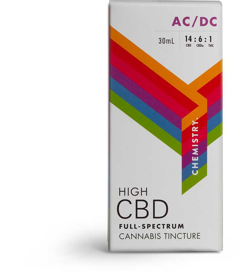 Chemistry High CBD Full Spectrum Cannabis Tincture Packaging Design