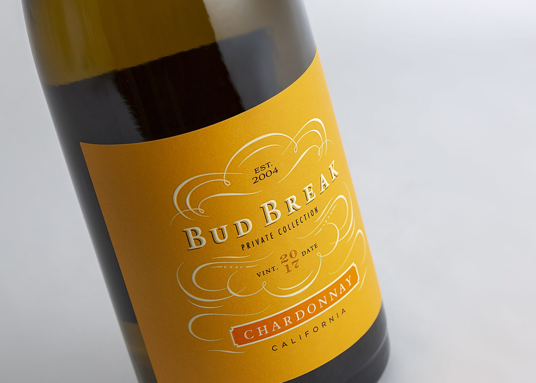 Budbreak Wine label design by Vertical in Santa Rosa, CA